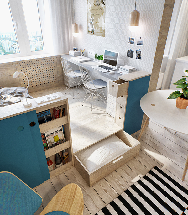 Diy Interior Designer: The Interior TR Apartment Boasts Space-Saving Designs And