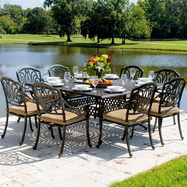 20 Sturdy Sets Of Patio Furniture From Cast Aluminum