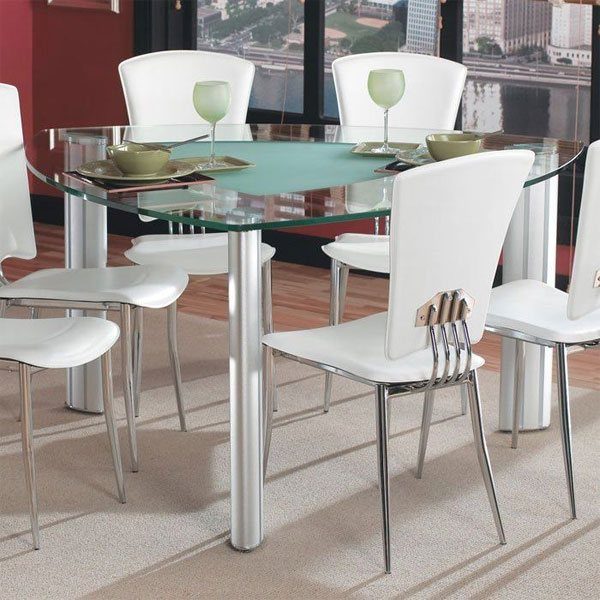 Triangle Kitchen Table 20 softly shaped curves of triangular dining tables home design lover glass tabletop workwithnaturefo
