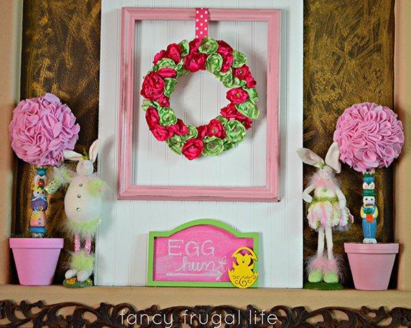 Fancy Frugal Easter Mantel