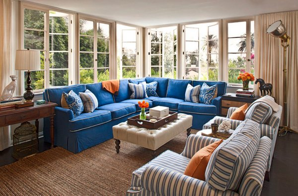 blue couch living room ideas 20 impressive blue sofa in the living room home design lover 18216