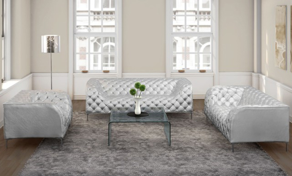 Bon Providence White Leather Living Room Set. Email; Save Photo. Modern Leather  Furniture