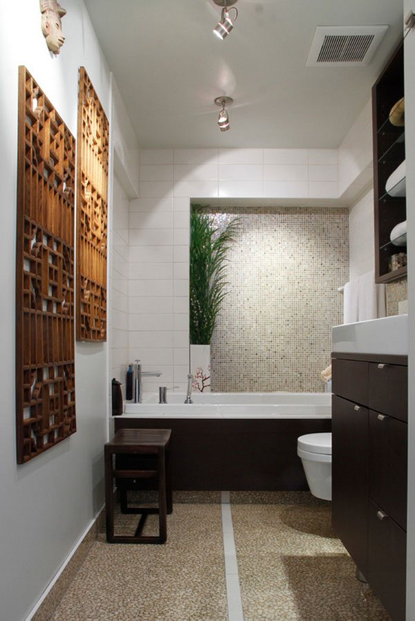 wooden decor bathroom wall ideas