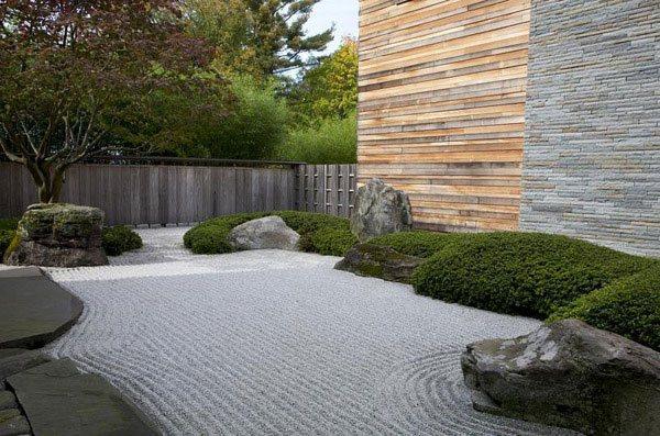 Japanese garden landscape exterior