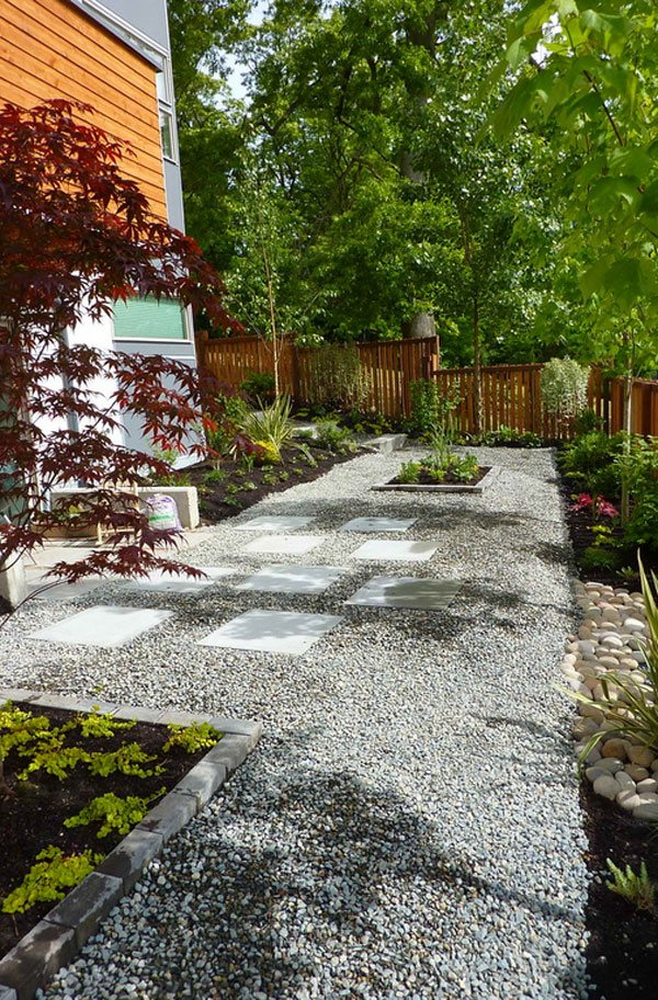 26 Decorative Ideas of Landscaping with Gravel | Home ... on Backyard Pebbles Design id=71746