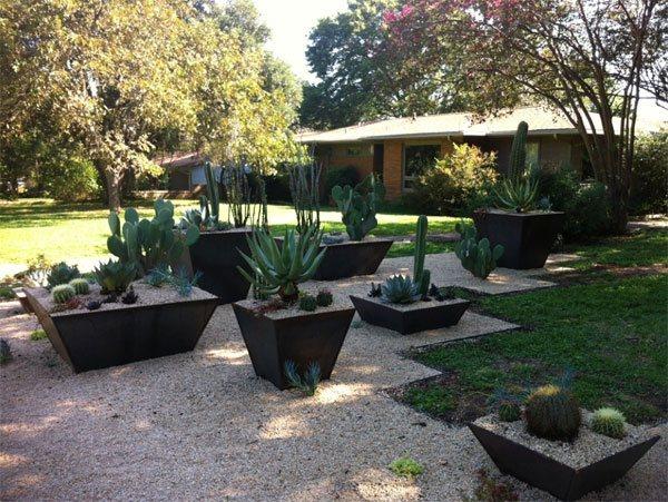 big planters gravel exterior