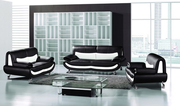 20 Modern Leather Living Room Furniture | Home Design Lover