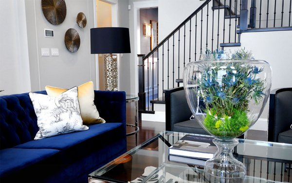 20 Impressive Blue Sofa In The Living Room Home Design Lover