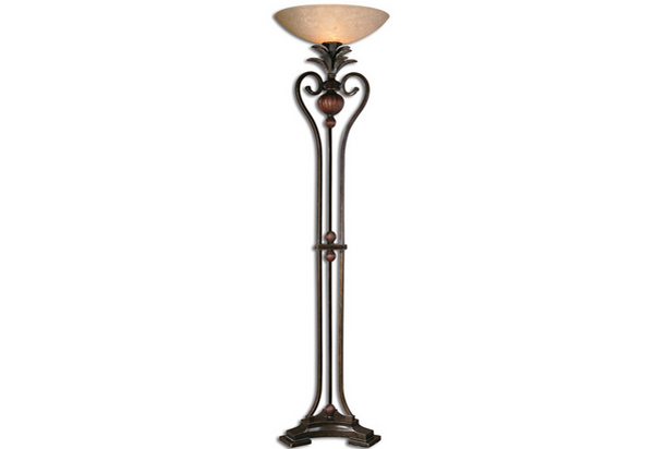 torch-like floor lamp