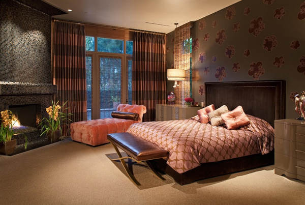 pink drapes design