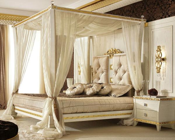 luxury canopy design & 20 Queen Size Canopy Bedroom Sets | Home Design Lover
