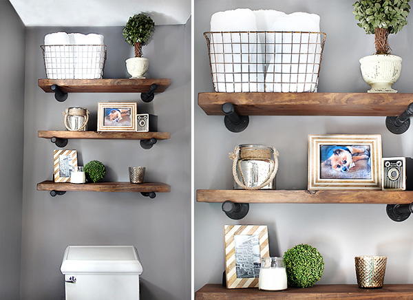 DIY restoration shelves
