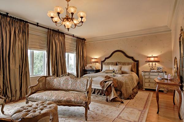bronze bedroom design