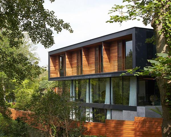 wooden exterior pattern