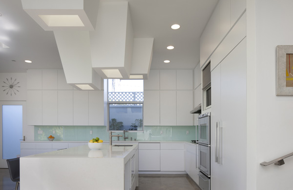 white kitchen area