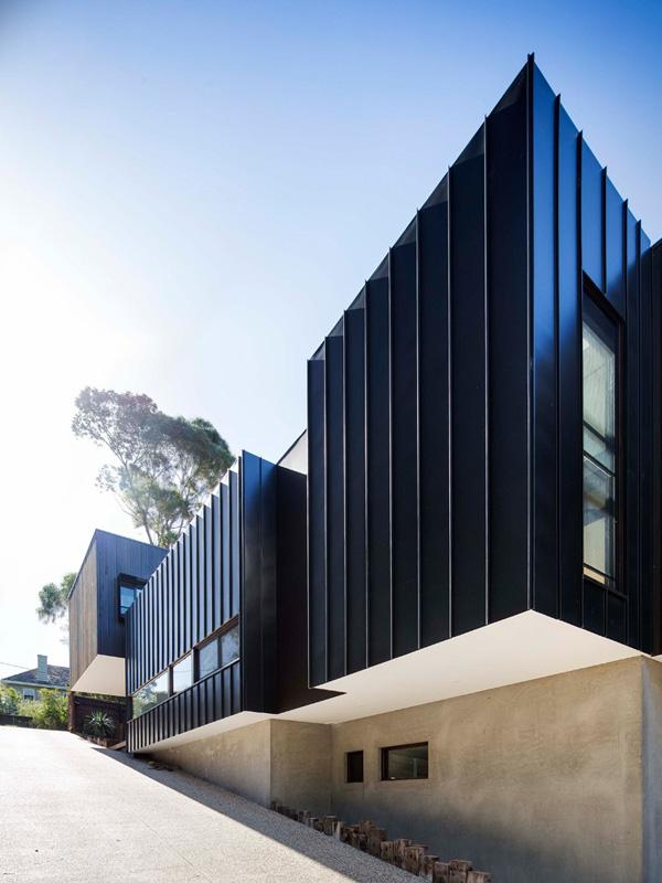 black exterior walls