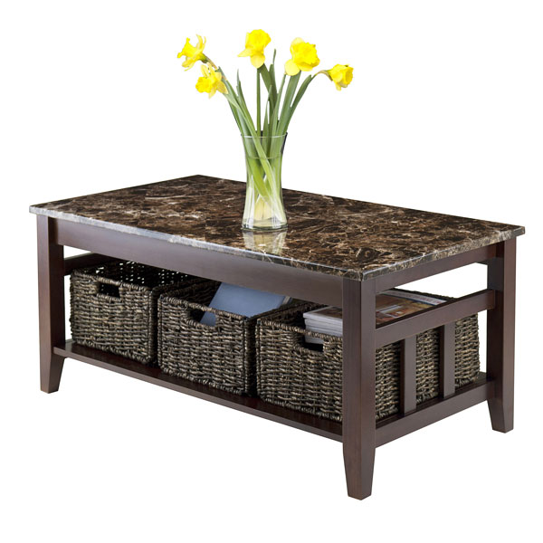 22 well designed coffee tables with basket for storage home design lover Coffee table baskets