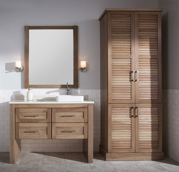 wood variety bathroom cabinet