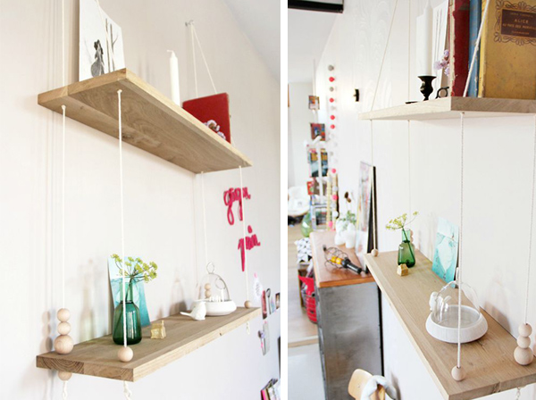 DIY Scandinavian Swing Shelf
