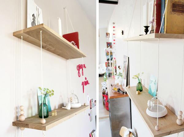 DIY Scandinavian Swing Shelf