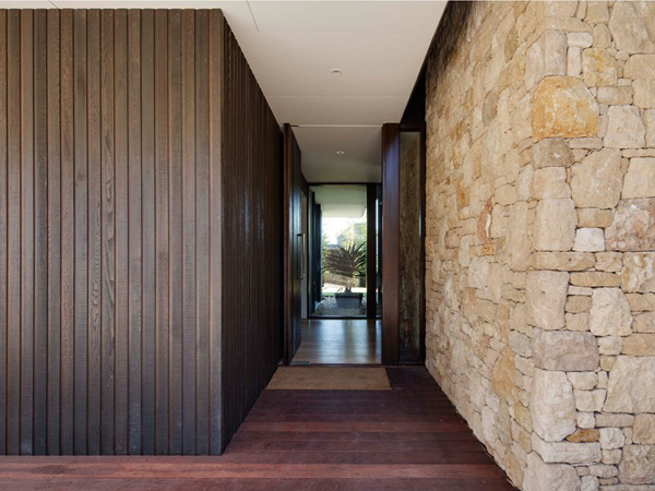 wood stone walls