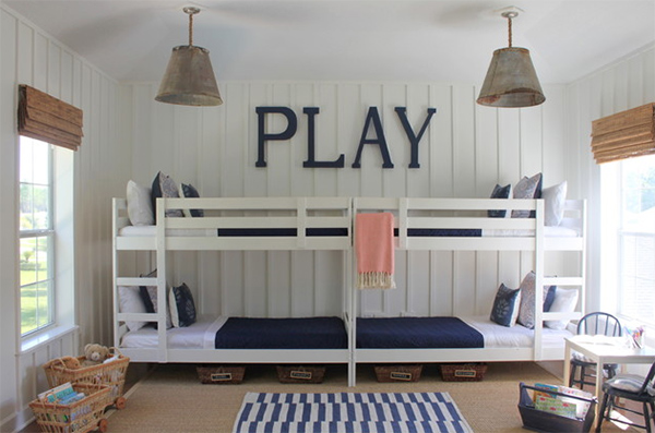 Bunk Room Typography Letter