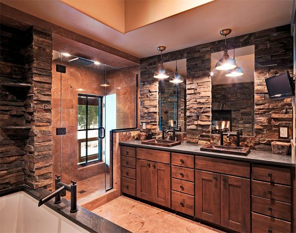 stone walls Bathroom