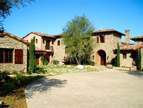 tuscany architecture gravel landscape exterior
