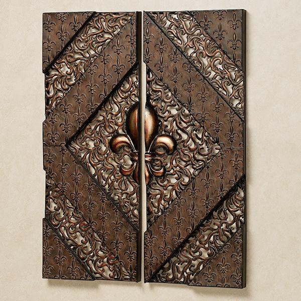 Fleur de Lis Metal Wall Panel Set