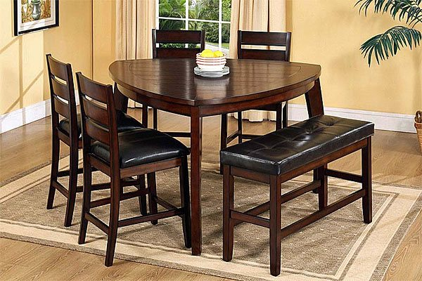 Triangle Kitchen Table Design Ideas ~ Softly shaped curves of triangular dining tables home