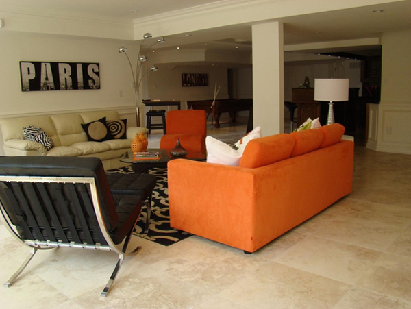 23 Fruity Orange Sofa Living Room Home Design Lover