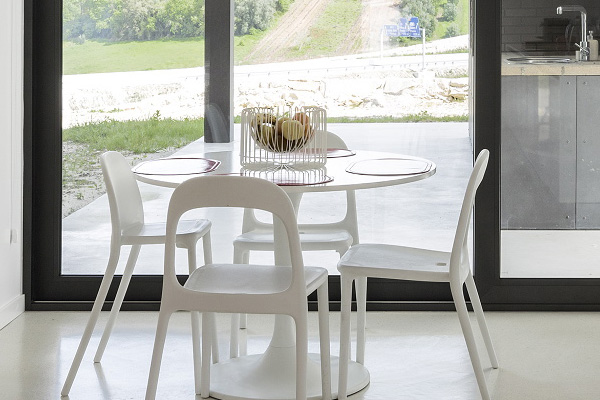 white small dining set
