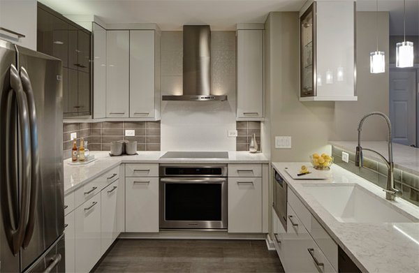 condo kitchen design. Two Toned Cabinets 20 Dashing And Streamlined Modern Condo Kitchen Designs  Home