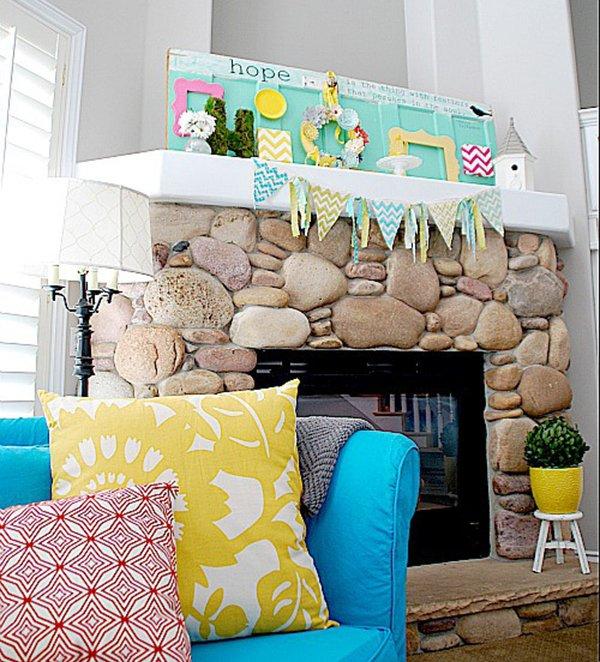 20 Vibrant DIY Easter Themed Mantel Designs