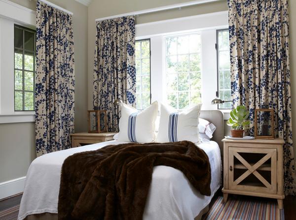 beautiful bedroom drape