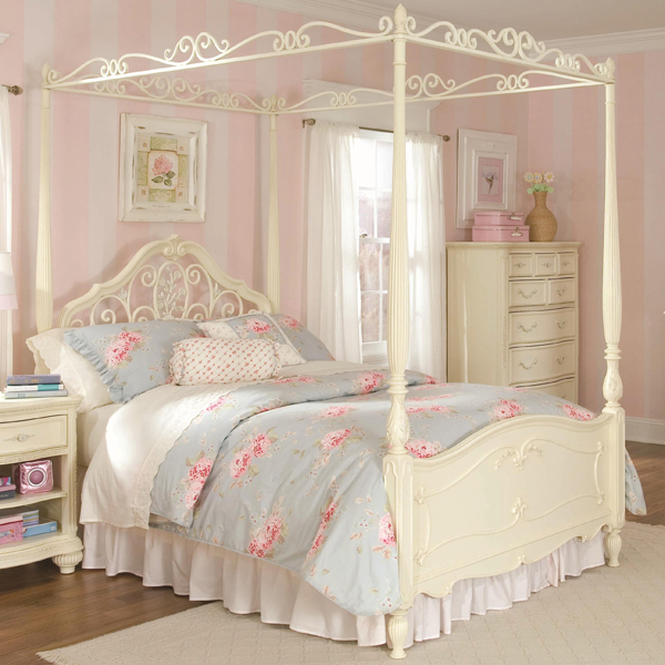 princess bed frame design & 20 Queen Size Canopy Bedroom Sets | Home Design Lover