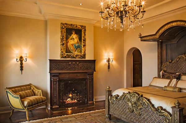 bronze fireplace