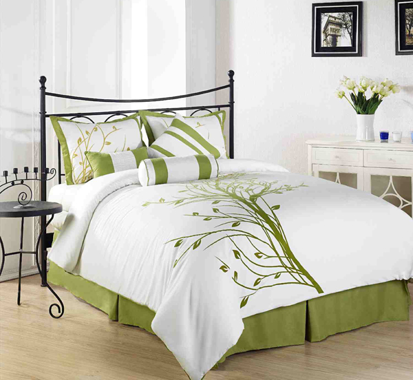 20 Bed Linens In Different Shades Of Green Home Design Lover