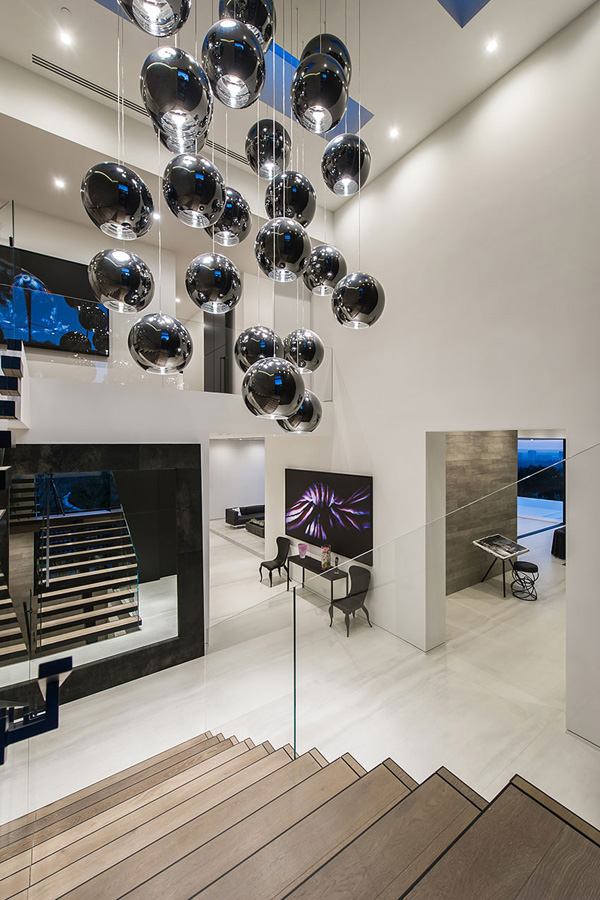 sphere chandelier