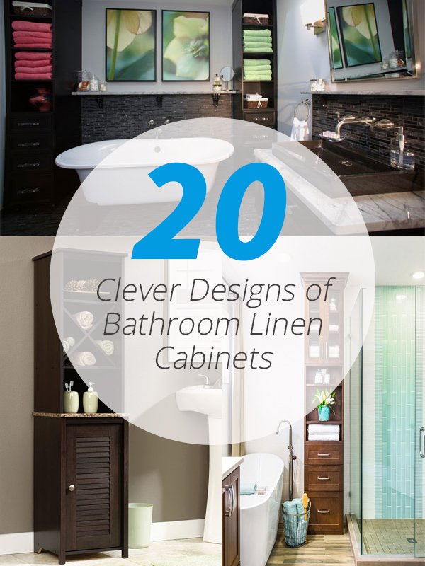 Bathroom Linen Cabinets 20 clever designs of bathroom linen cabinets | home design lover