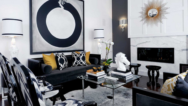 20 Attractive Black Sofa Living Room | Home Design Lover