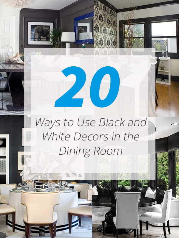 black white-decors dining