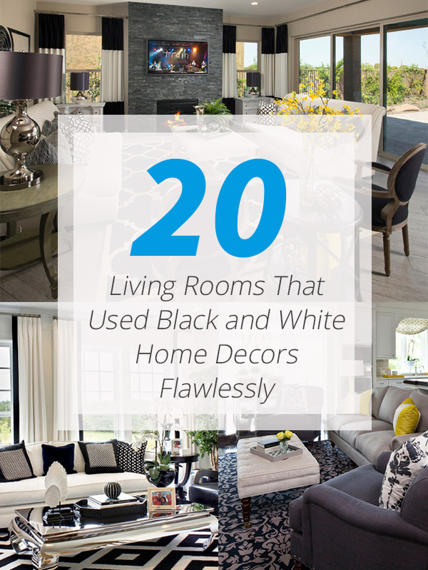 black white home decors livingroom