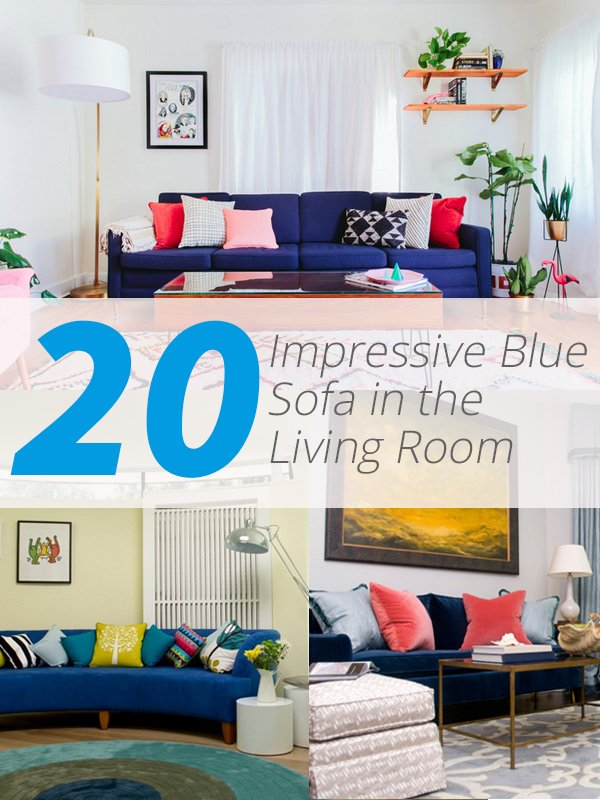 Tremendous 20 Impressive Blue Sofa In The Living Room Home Design Lover Machost Co Dining Chair Design Ideas Machostcouk