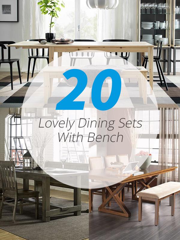 Surprising 20 Lovely Dining Sets With Bench Home Design Lover Forskolin Free Trial Chair Design Images Forskolin Free Trialorg