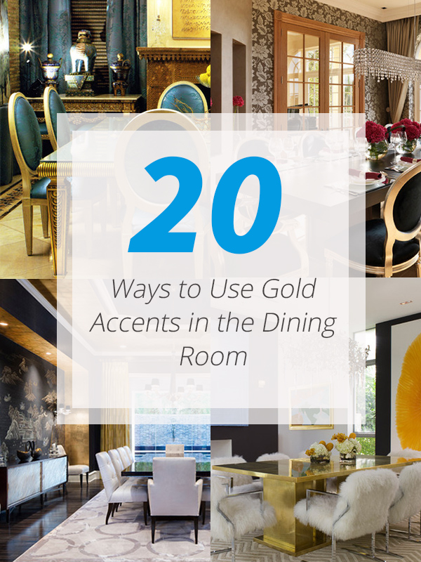 gold accent dining