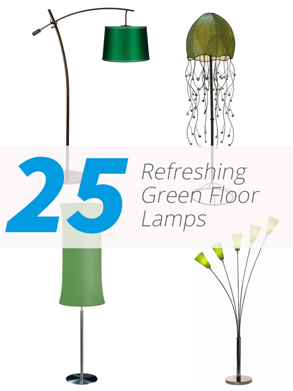 green floor lamps