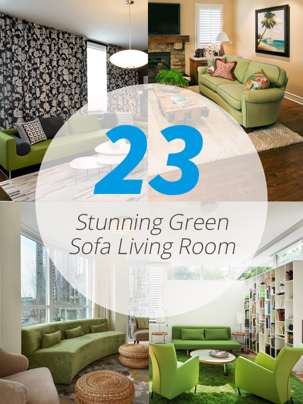 green sofa living room