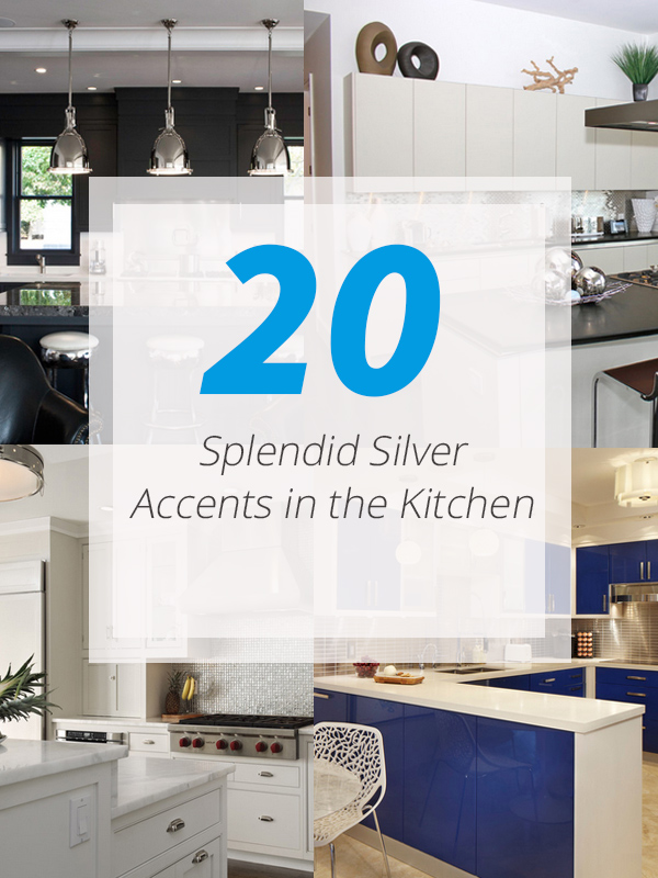 kitchen silver accents