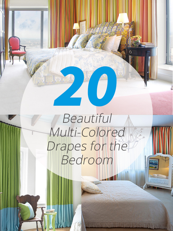 multi colored bedroom drapes
